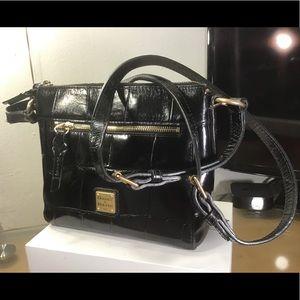 Dooney & Bourke Black Leather Crossbody Handbags